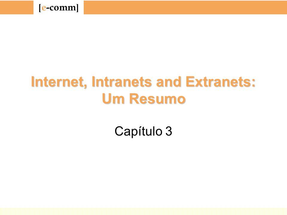 [ e-comm ] Internet, Intranets and Extranets: Um Resumo Capítulo 3
