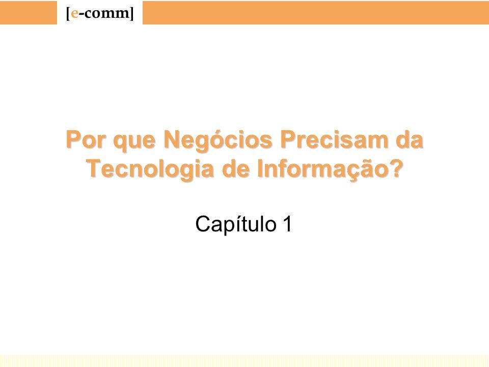 [ e-comm ] Por que Negócios Precisam da Tecnologia de Informação? Capítulo 1