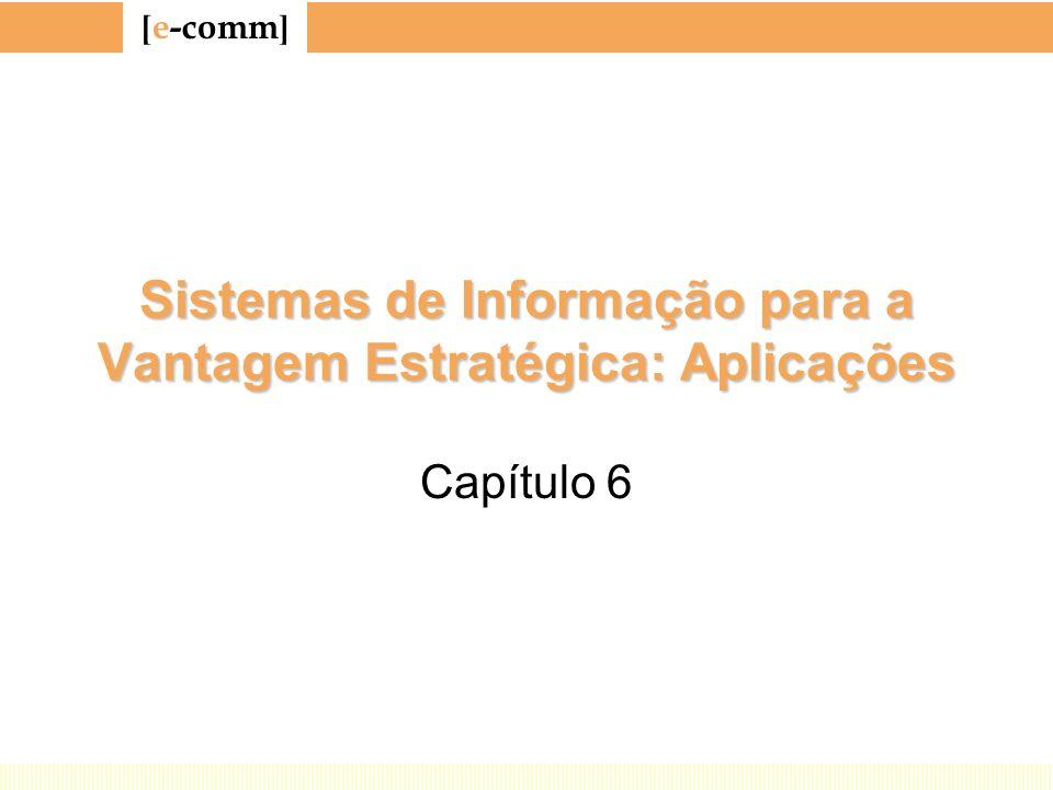 [ e-comm ] Sistemas de Informação para a Vantagem Estratégica: Aplicações Capítulo 6