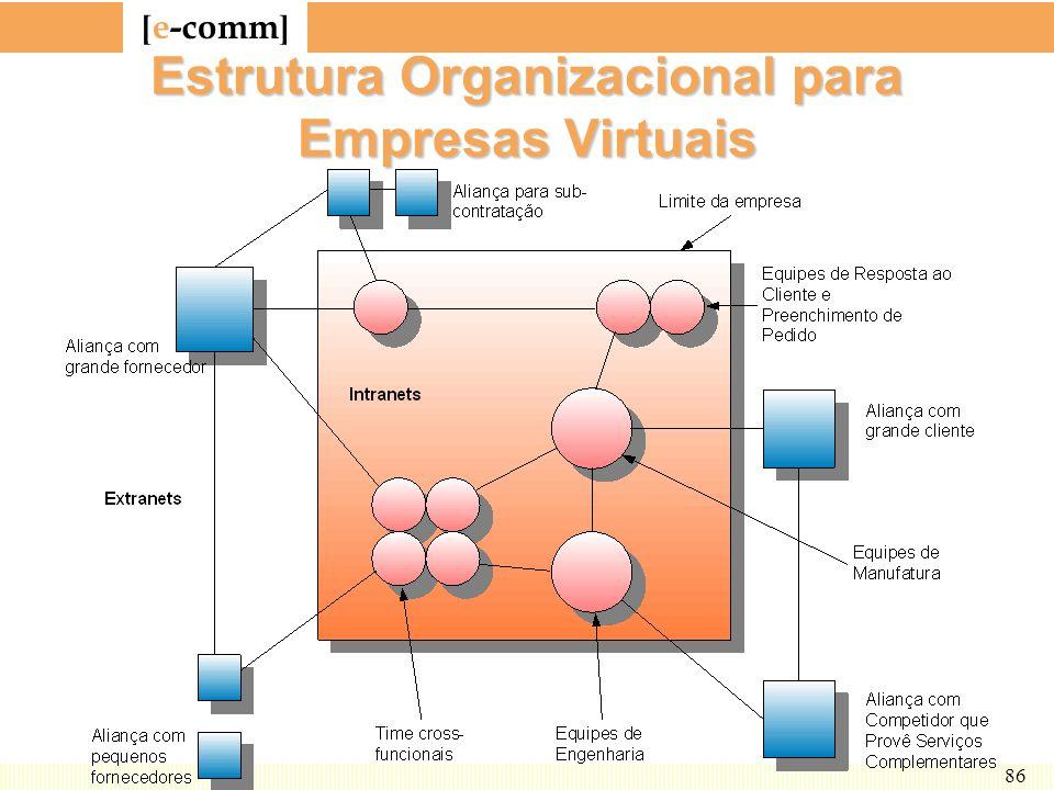 [ e-comm ] 86 Estrutura Organizacional para Empresas Virtuais