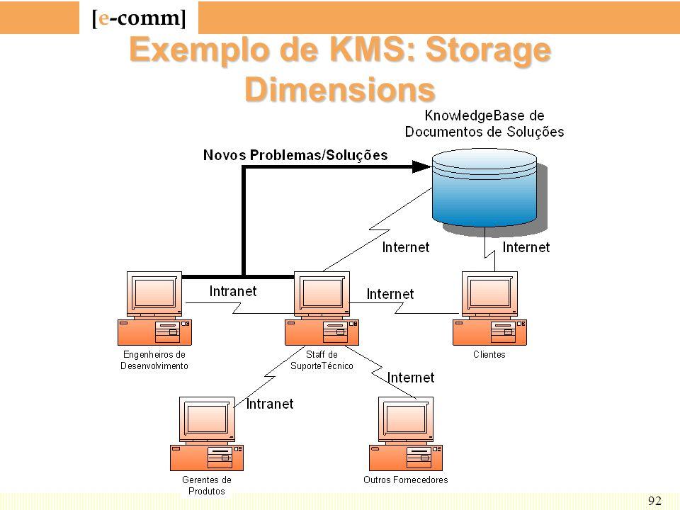 [ e-comm ] 92 Exemplo de KMS: Storage Dimensions