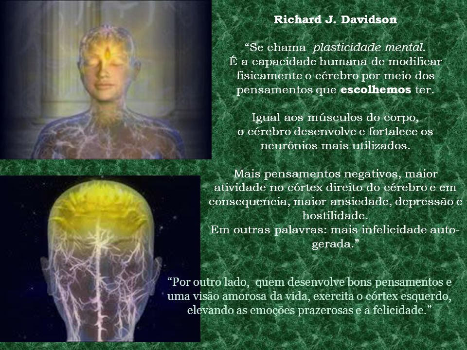 Richard J. Davidson Se chama plasticidade mental.
