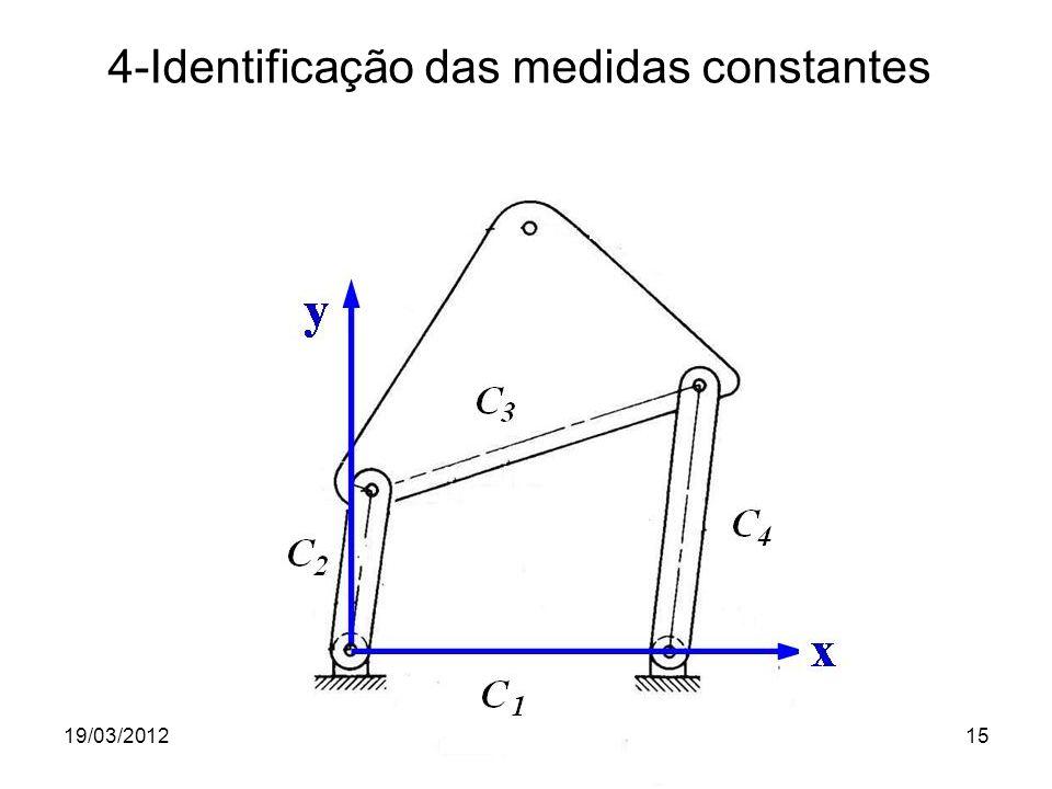 19/03/2012Prof. Jorge Luiz Erthal15 4-Identificação das medidas constantes