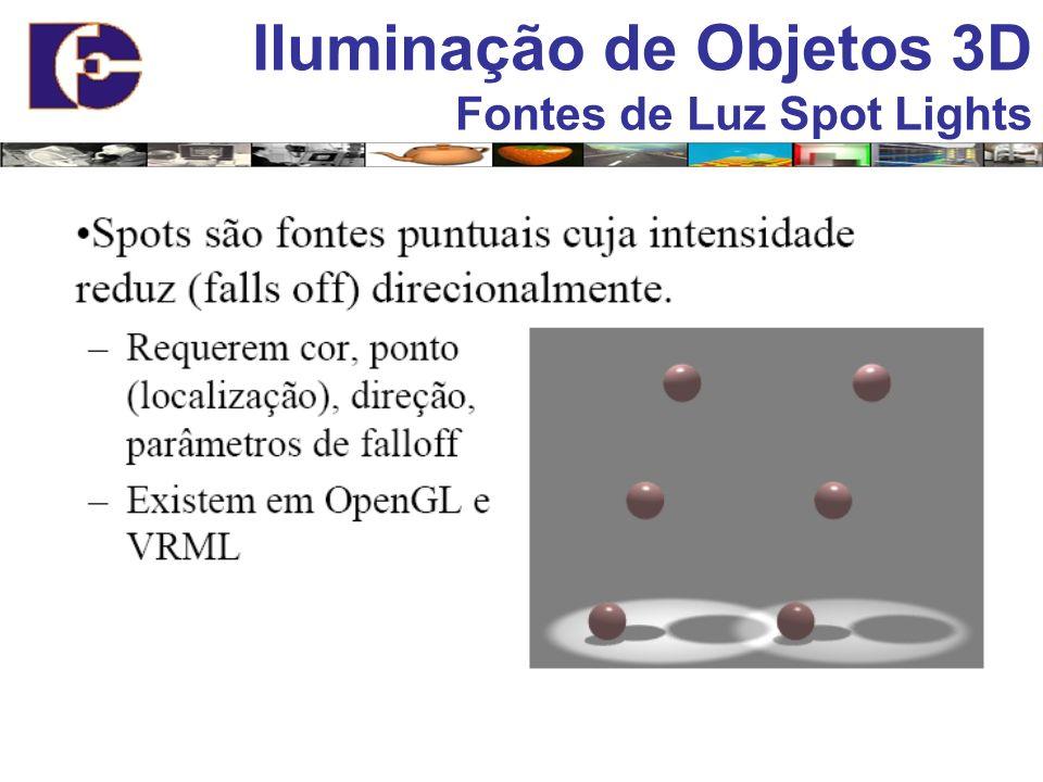 Iluminação de Objetos 3D Fontes de Luz Spot Lights