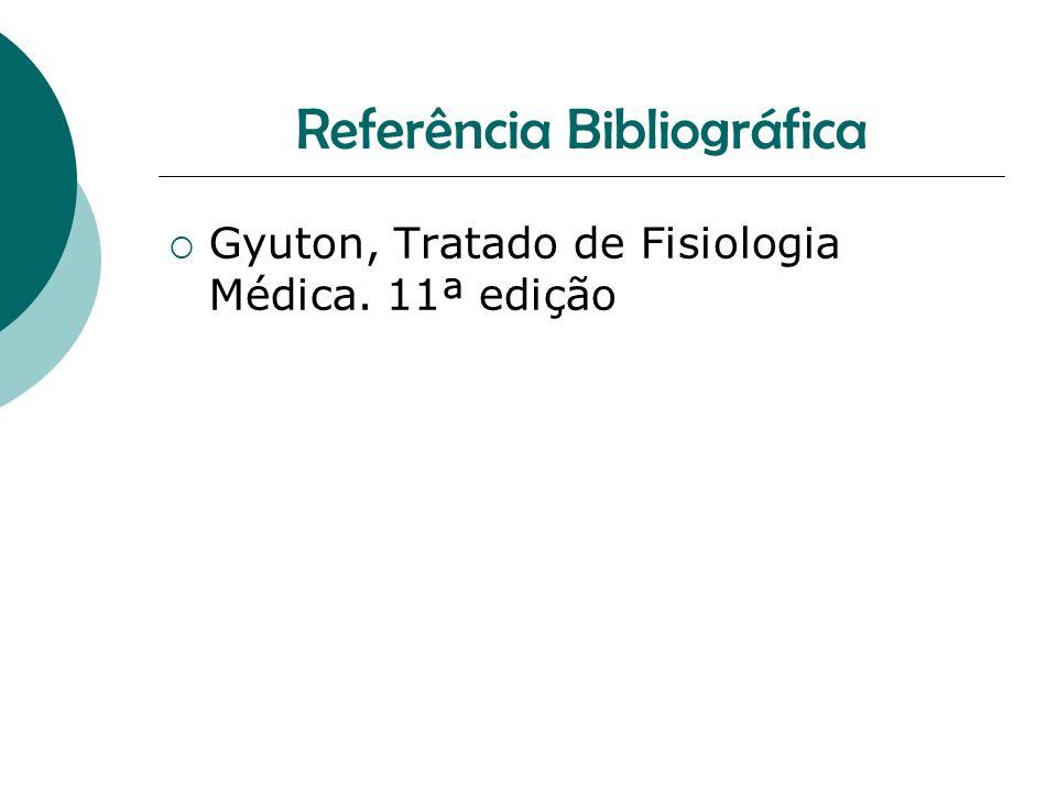 Referência Bibliográfica Gyuton, Tratado de Fisiologia Médica. 11ª edição
