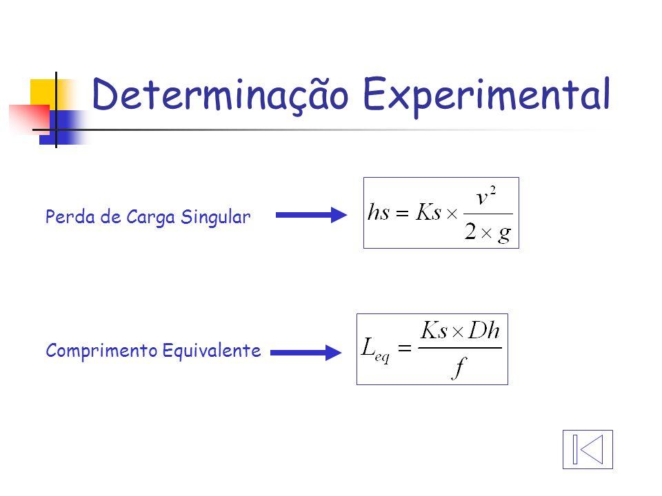 Determinação Experimental Perda de Carga Singular Comprimento Equivalente