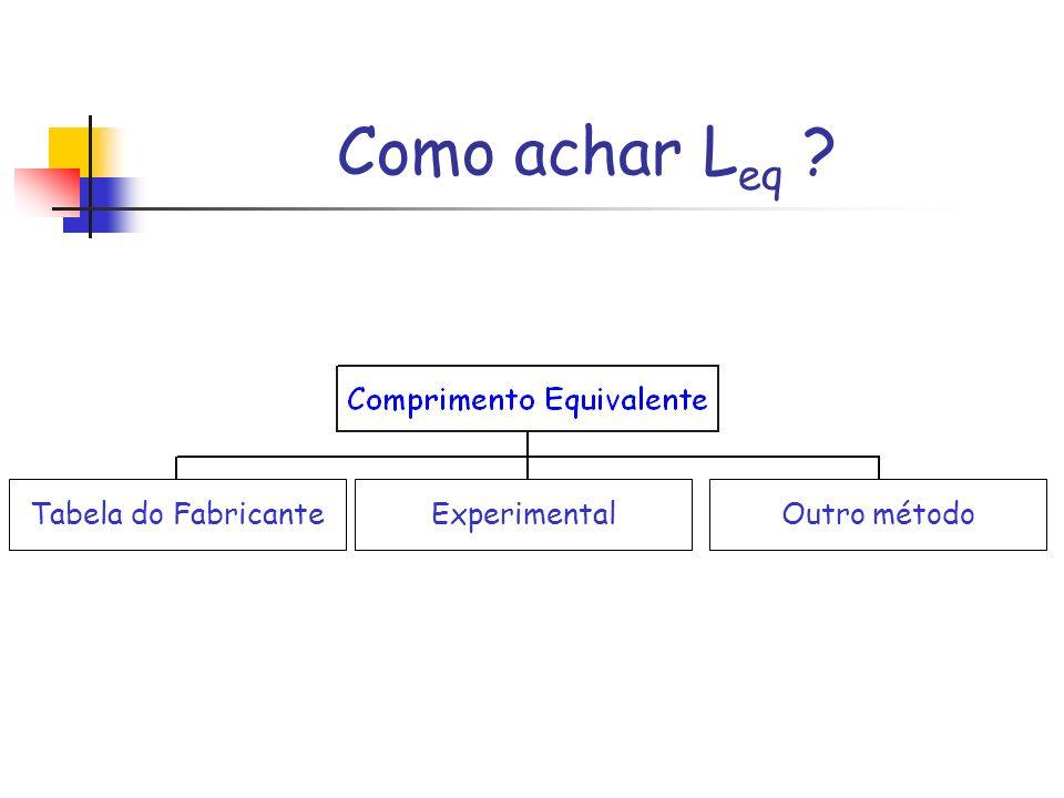 Como achar L eq ? Tabela do FabricanteOutro métodoExperimental