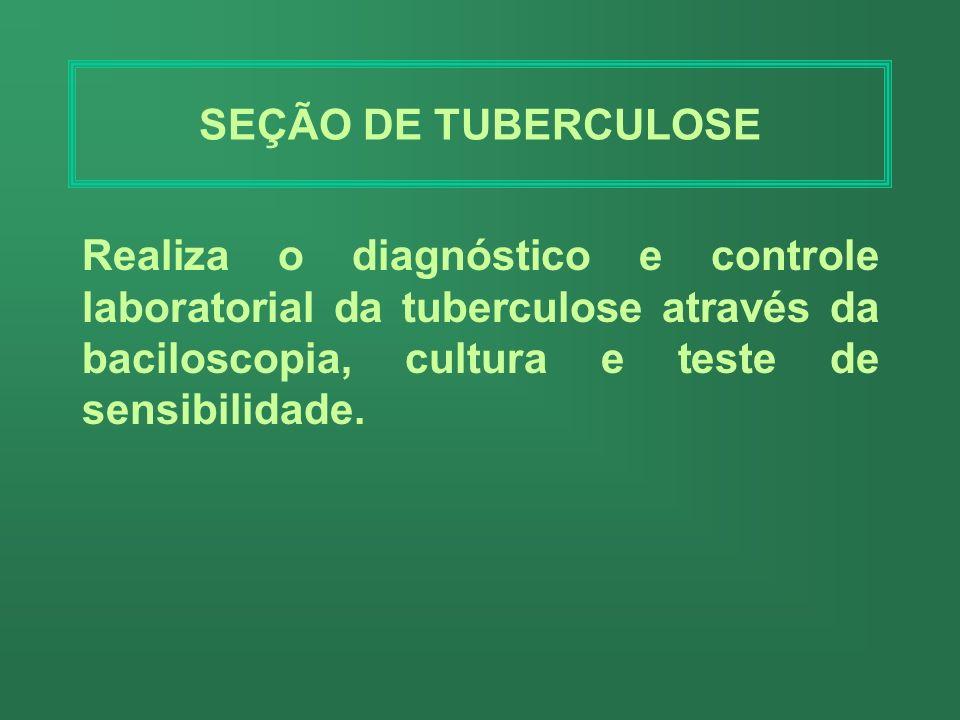 SEÇÃO DE MICOLOGIA Realiza exames para diagnóstico das doenças relacionadas com fungos. Atende toda a demanda dos hospitais e municípios do estado, de