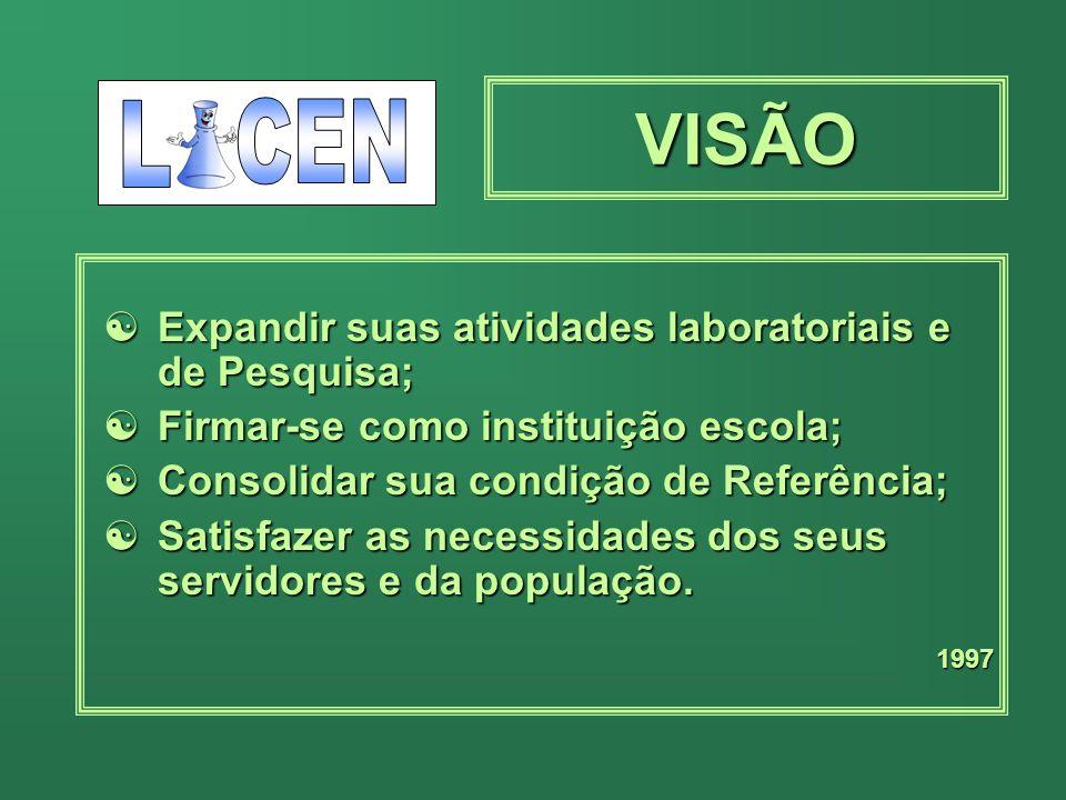 MISSÃO Promover ações de saúde na área laboratorial, como referência estadual, atuando diretamente ou em parceria, garantindo serviços de qualidade em