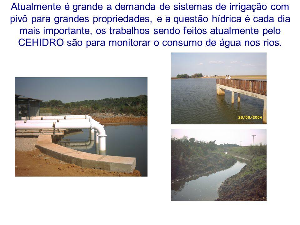 Outro problema grave que necessita atenção é o uso racional da água captada, que será utilizada na irrigação.