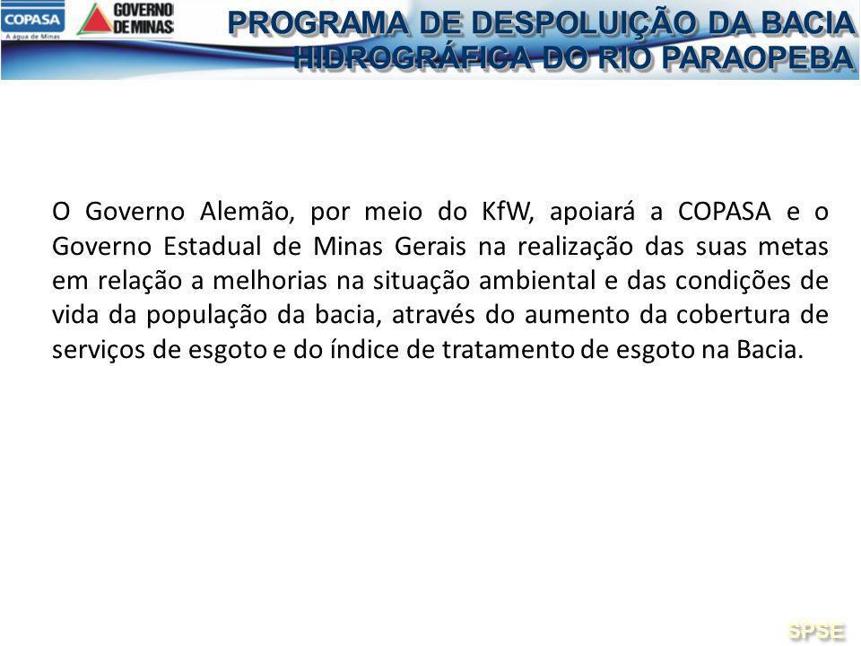 O Governo Alemão, por meio do KfW, apoiará a COPASA e o Governo Estadual de Minas Gerais na realização das suas metas em relação a melhorias na situaç