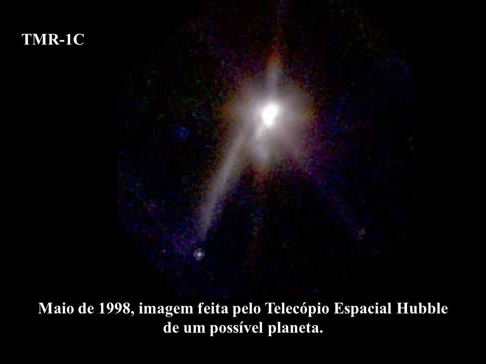 TMR-1C Maio de 1998, imagem feita pelo Telecópio Espacial Hubble de um possível planeta. TMR-1C