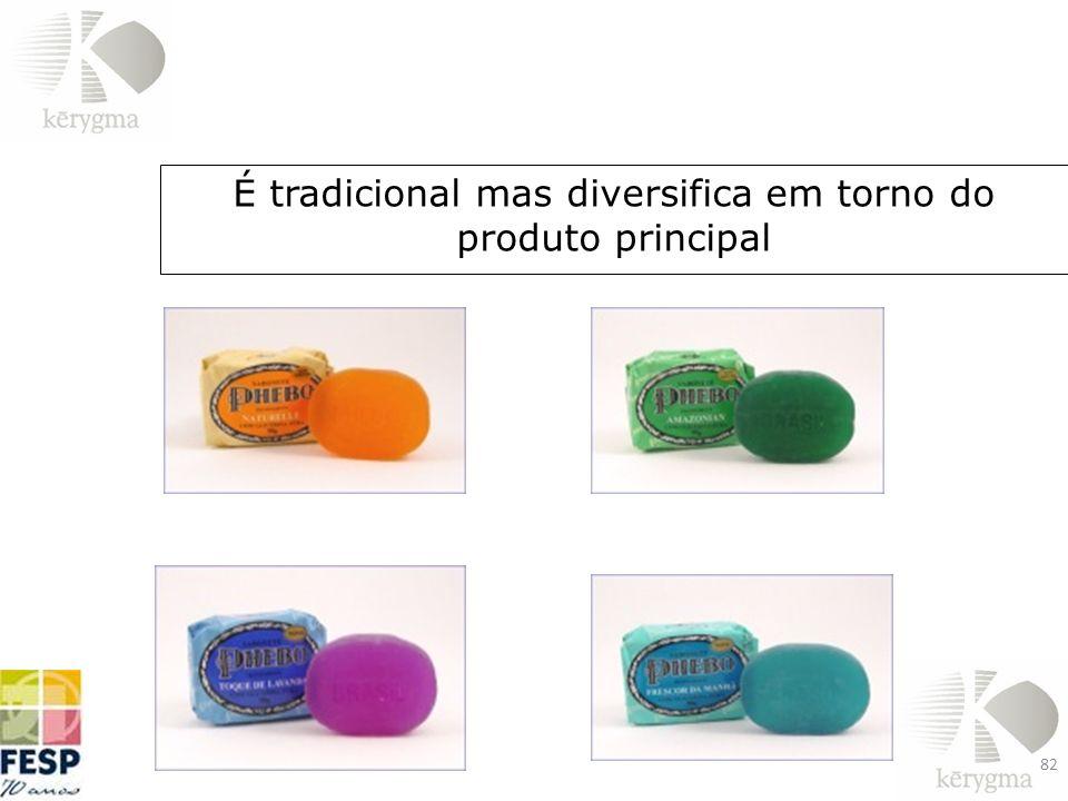 É tradicional mas diversifica em torno do produto principal 82