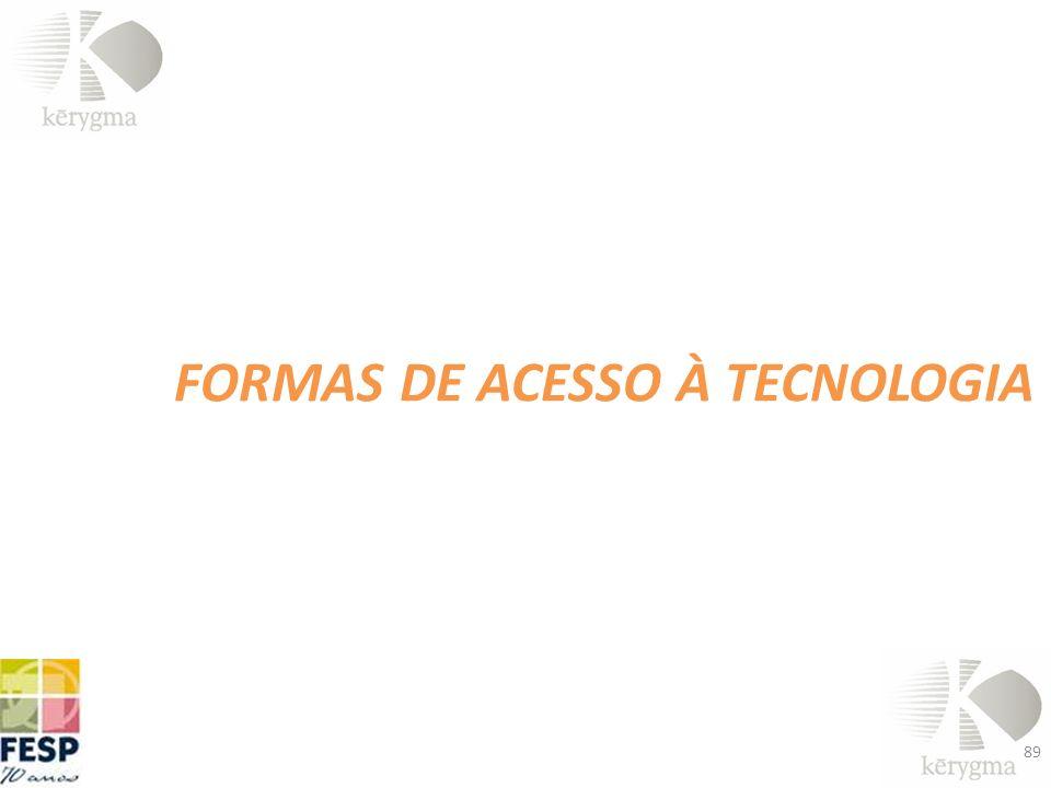 FORMAS DE ACESSO À TECNOLOGIA 89