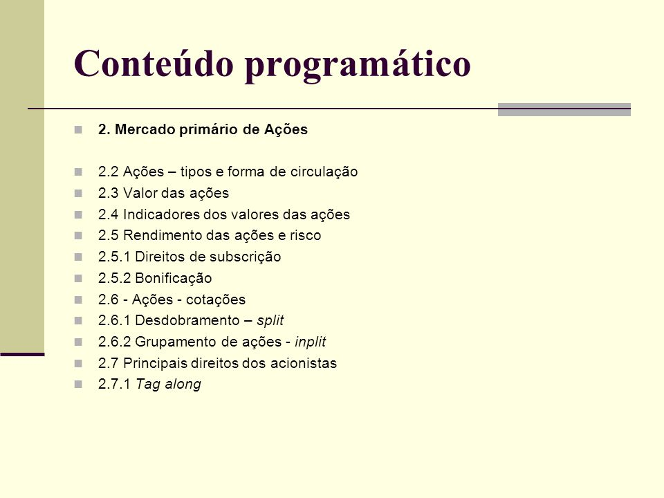 Conteúdo programático 3.