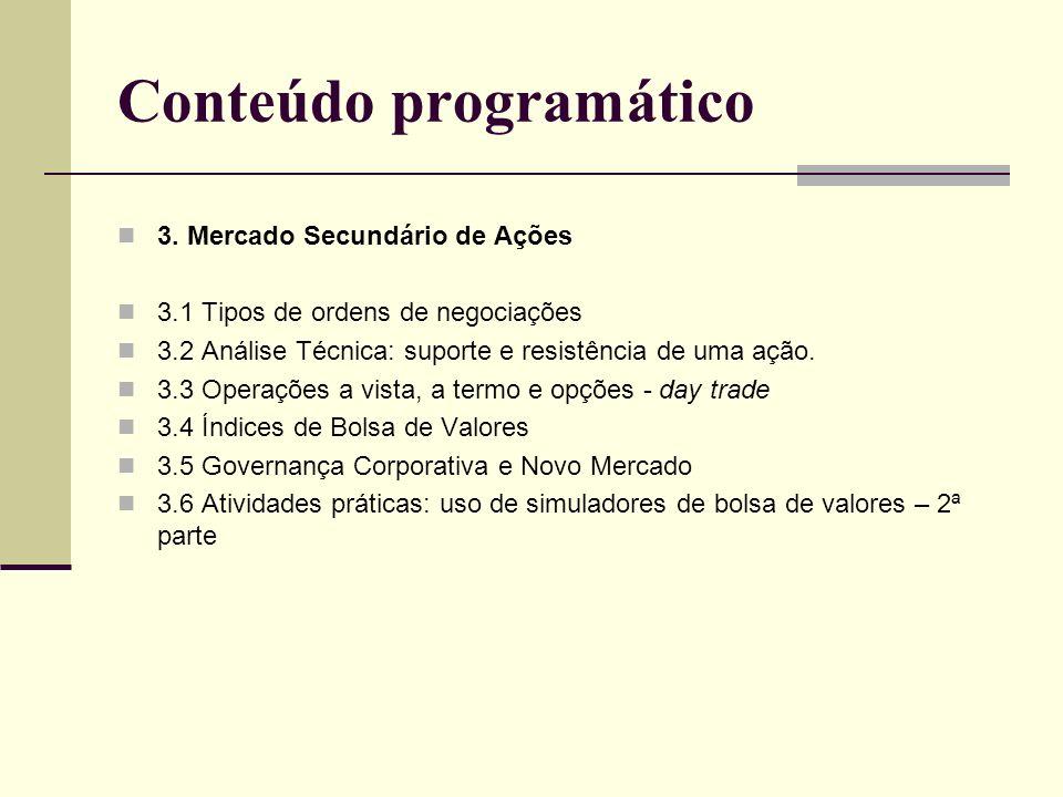 Conteúdo programático 4.