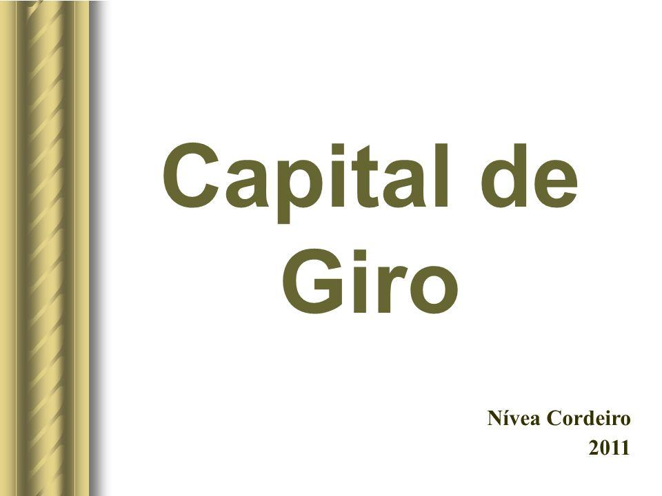 Capital de Giro Nívea Cordeiro 2011