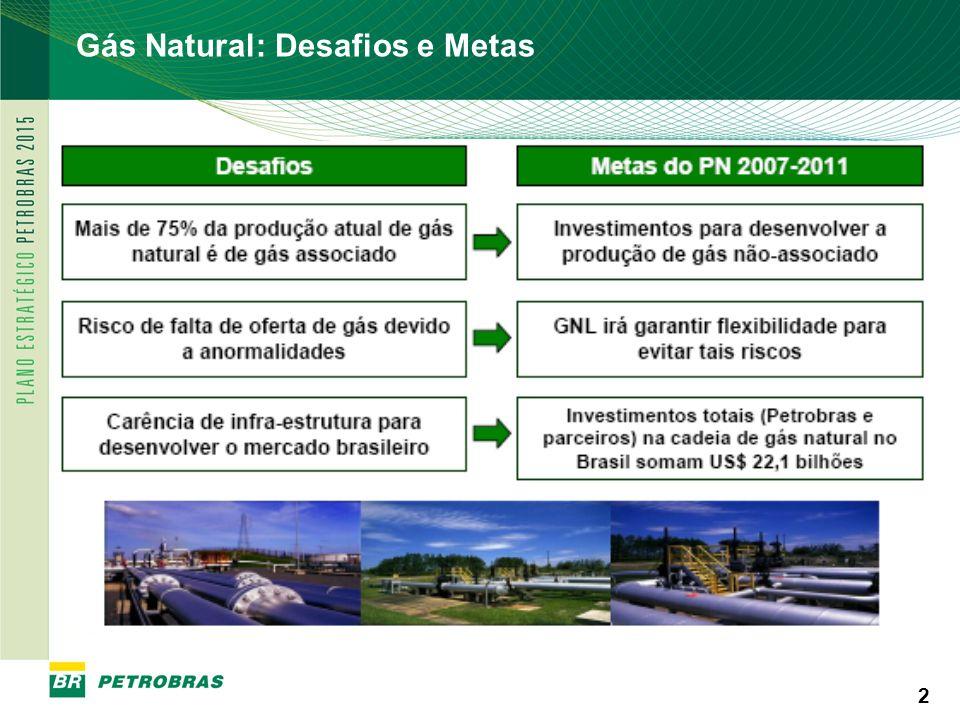 PETROBRAS 13 Participação do Gás nas fontes primárias de energia no Brasil Evolução: crescimento do consumo industrial; substituição por combustível limpo (política ambiental) e consumo termelétrico.