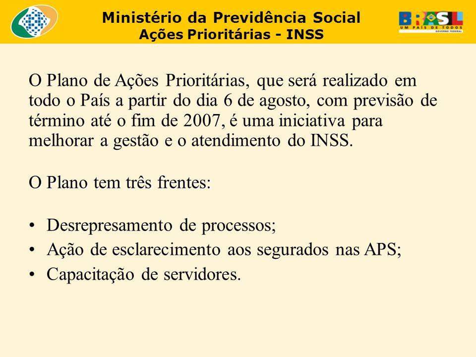 O Plano de Ações Prioritárias, que será realizado em todo o País a partir do dia 6 de agosto, com previsão de término até o fim de 2007, é uma iniciat