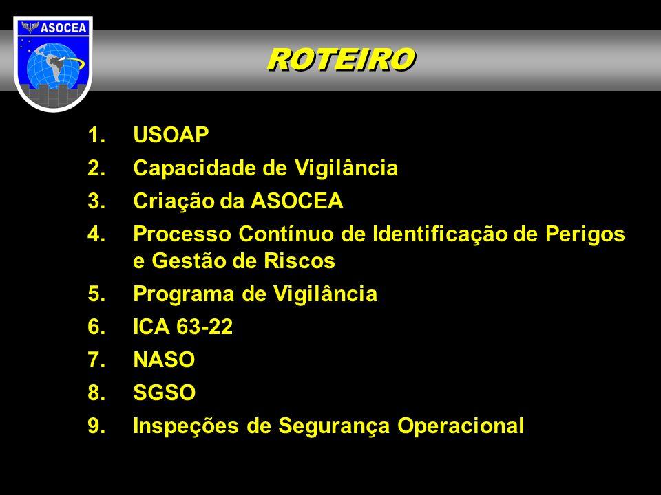 A ASOCEA inspeciona o DECEA, aplicando os mesmos Protocolos utilizados pela Auditoria da ICAO e Todos os Provedores de Serviços de Navegação Aérea para avaliar os níveis de segurança operacional praticados, em conformidade com os regulamentos elaborados pelo DECEA.