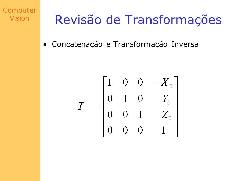 Computer Vision Revisão de Transformações Concatenação e Transformação Inversa