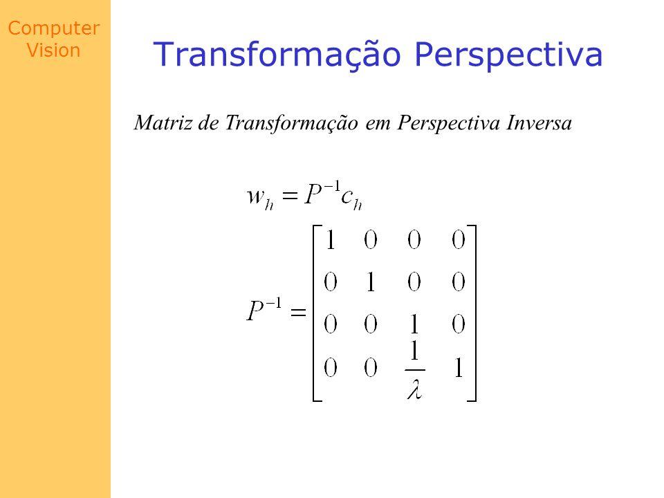 Computer Vision Transformação Perspectiva Matriz de Transformação em Perspectiva Inversa