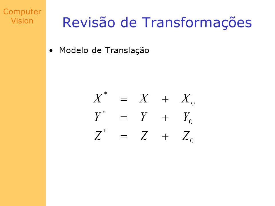 Computer Vision Modelo de Câmera Combinando as duas translações e as duas rotações: