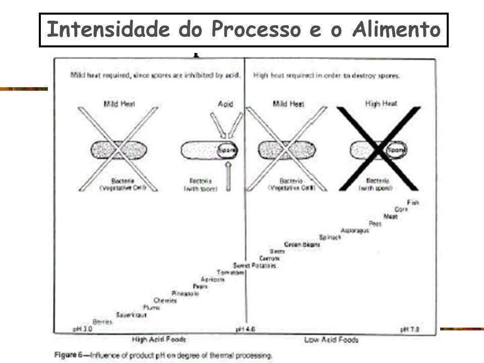 Intensidade do Processo e o Alimento