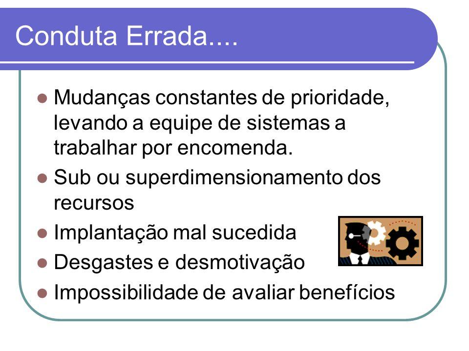 Barreiras para a melhoria Entendimento e expectativas da alta administração sobre um Programa de SI.