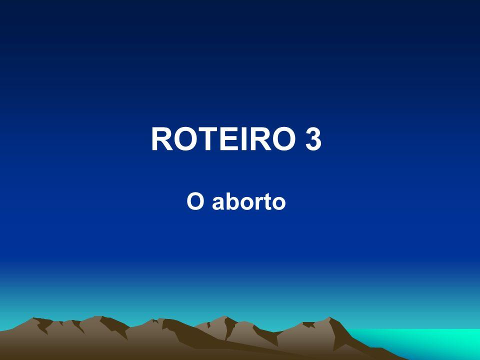 ROTEIRO 3 O aborto