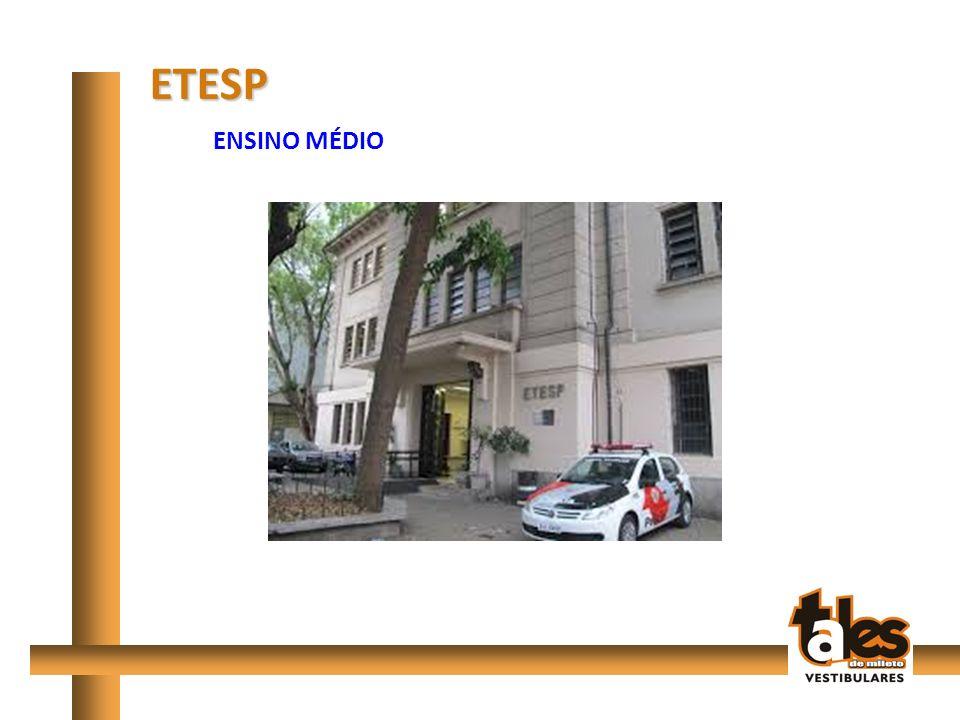 Etec São Paulo/Etesp (Av.Tiradentes) Etec Carlos de Campos (Brás) Etec Camargo Aranha (Mooca) Etec Rocha Mendes (V.