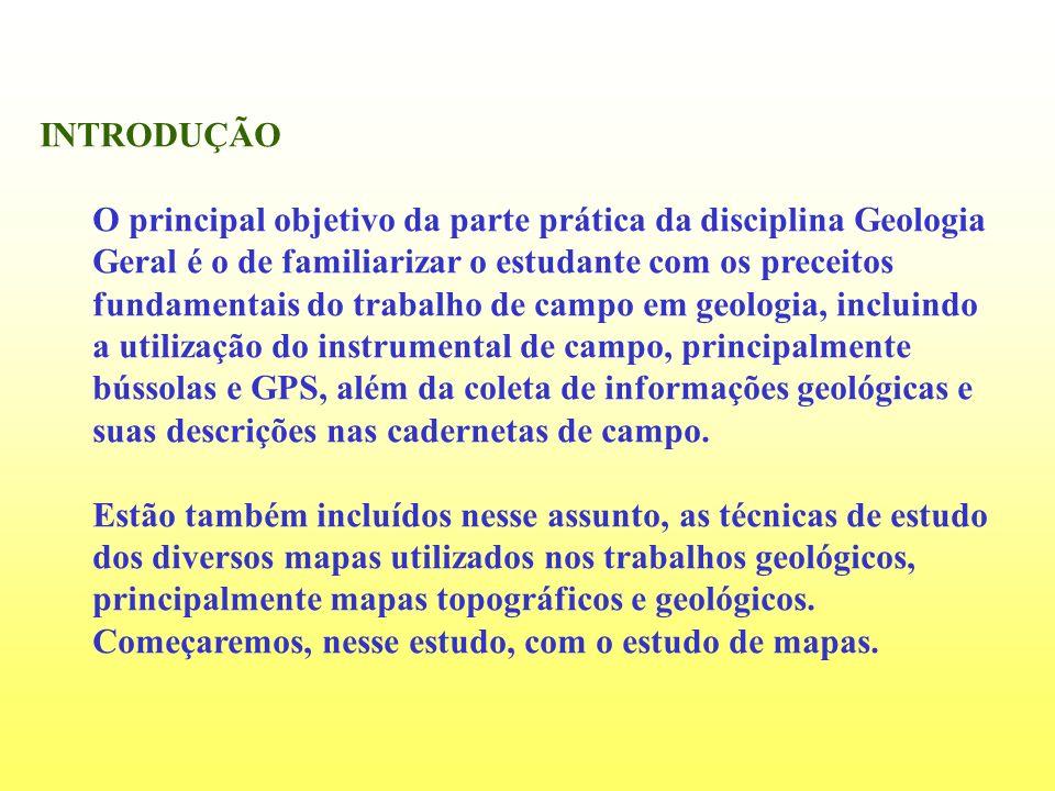 INTRODUÇÃO O principal objetivo da parte prática da disciplina Geologia Geral é o de familiarizar o estudante com os preceitos fundamentais do trabalh