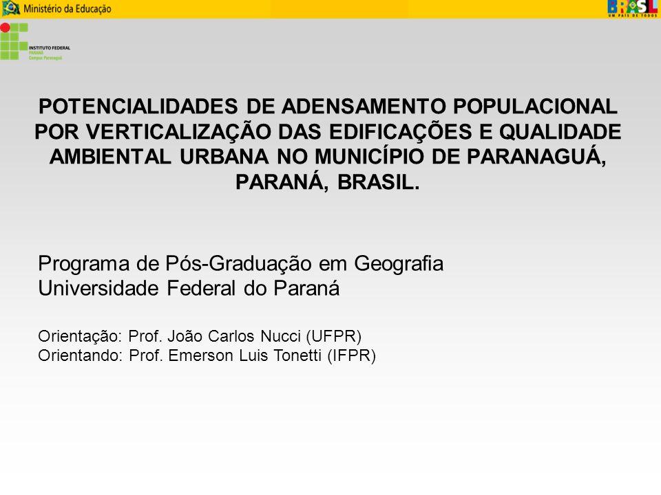 Setores especiais de adensamento propostos no PDDIP (2007) Prof.