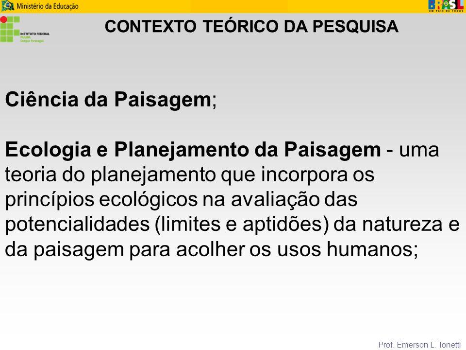 ASPECTOS TEÓRICOS Prof.Emerson L.