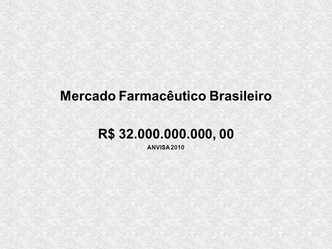 Mercado Farmacêutico Brasileiro R$ 32.000.000.000, 00 ANVISA 2010