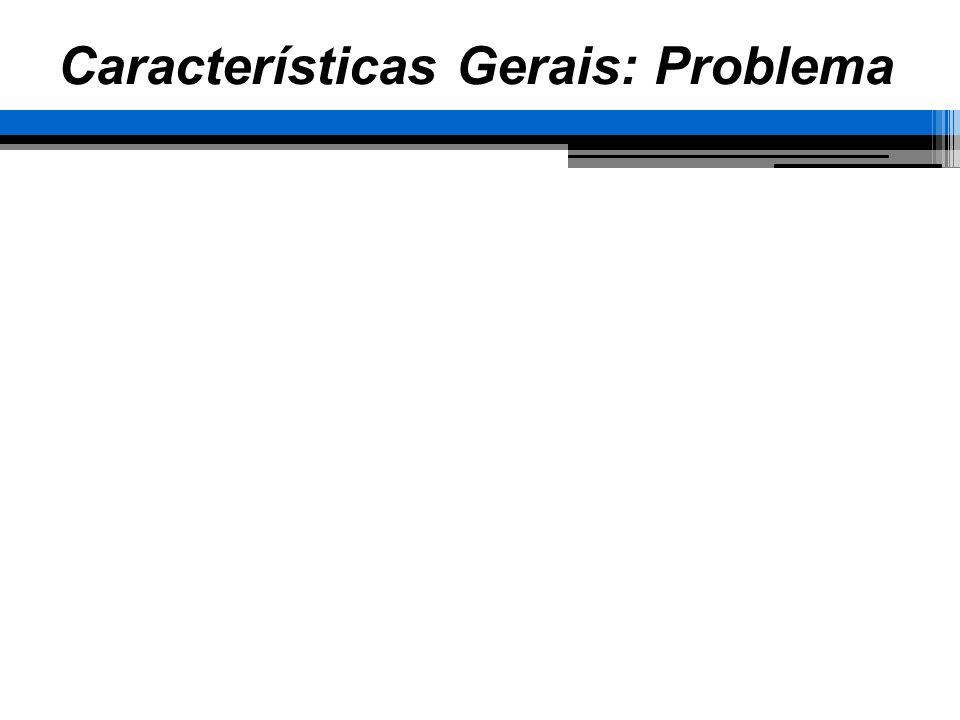 Características Gerais: Problema