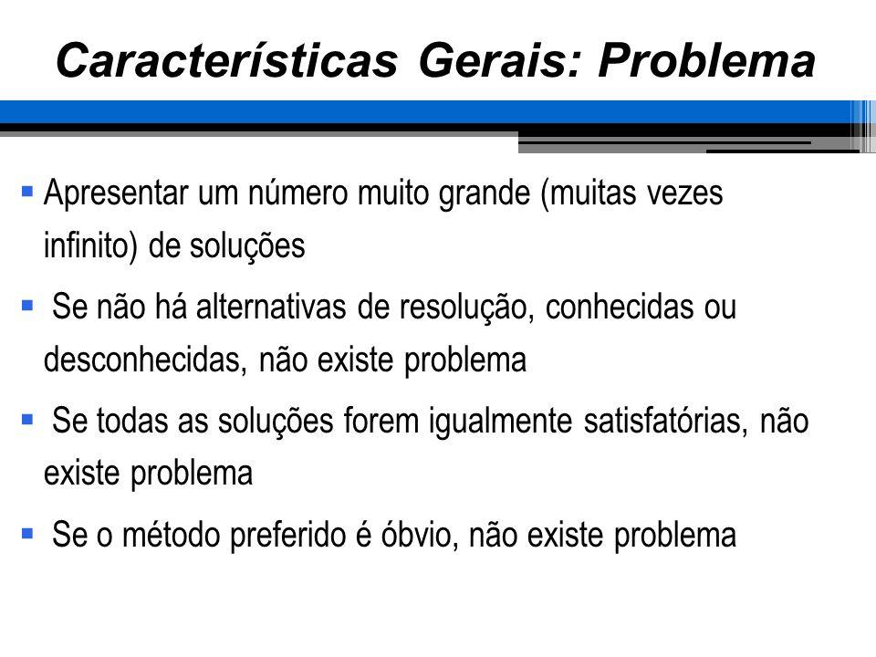 Formulação do problema Raramente é apresentado ao engenheiro o problema real Exemplo: Projeto de um elemento que não é mais necessário, ou o reestudo de uma operação que pode ser eliminada.