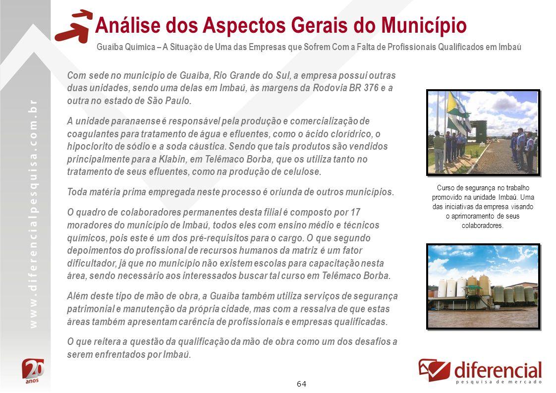 64 Com sede no município de Guaíba, Rio Grande do Sul, a empresa possui outras duas unidades, sendo uma delas em Imbaú, às margens da Rodovia BR 376 e