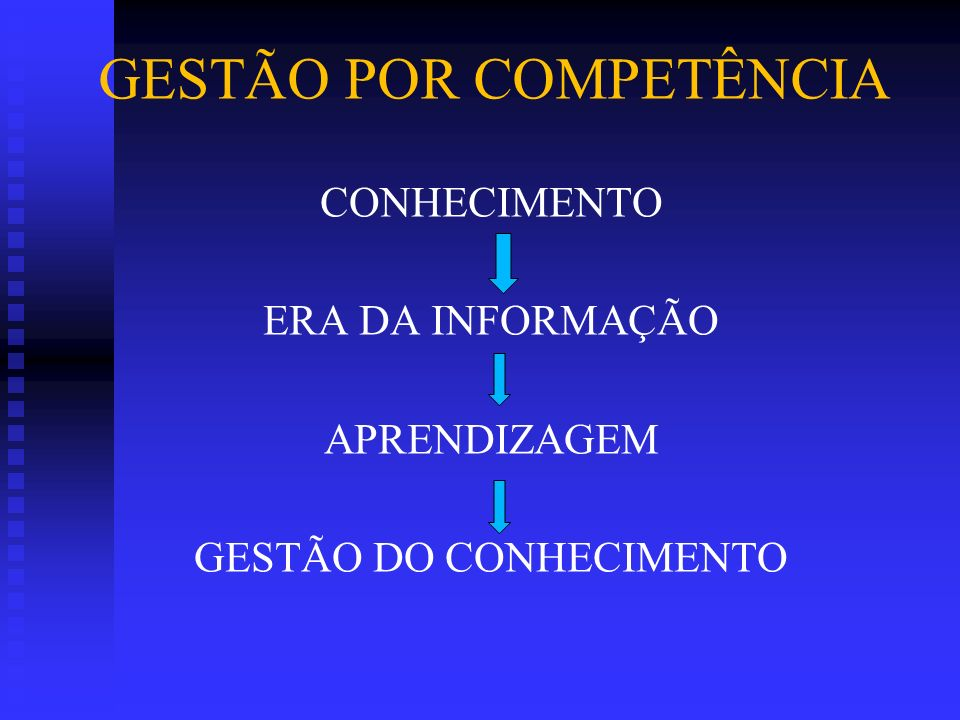 CONHECIMENTO ERA DA INFORMAÇÃO APRENDIZAGEM GESTÃO DO CONHECIMENTO