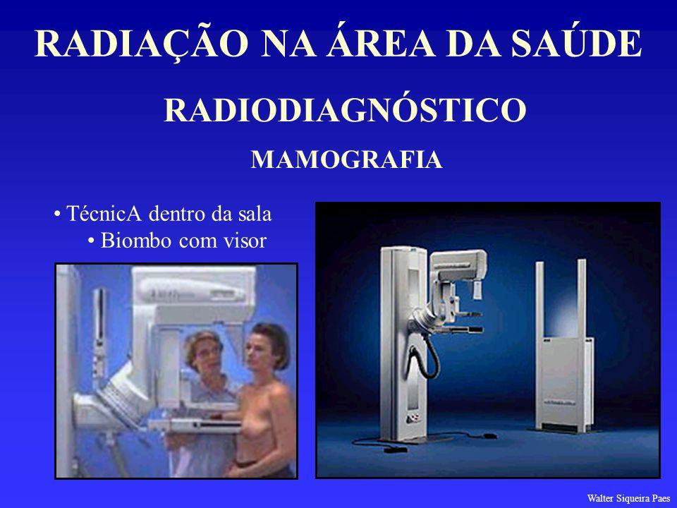 RADIODIAGNÓSTICO RADIAÇÃO NA ÁREA DA SAÚDE MAMOGRAFIA TécnicA dentro da sala Biombo com visor Walter Siqueira Paes