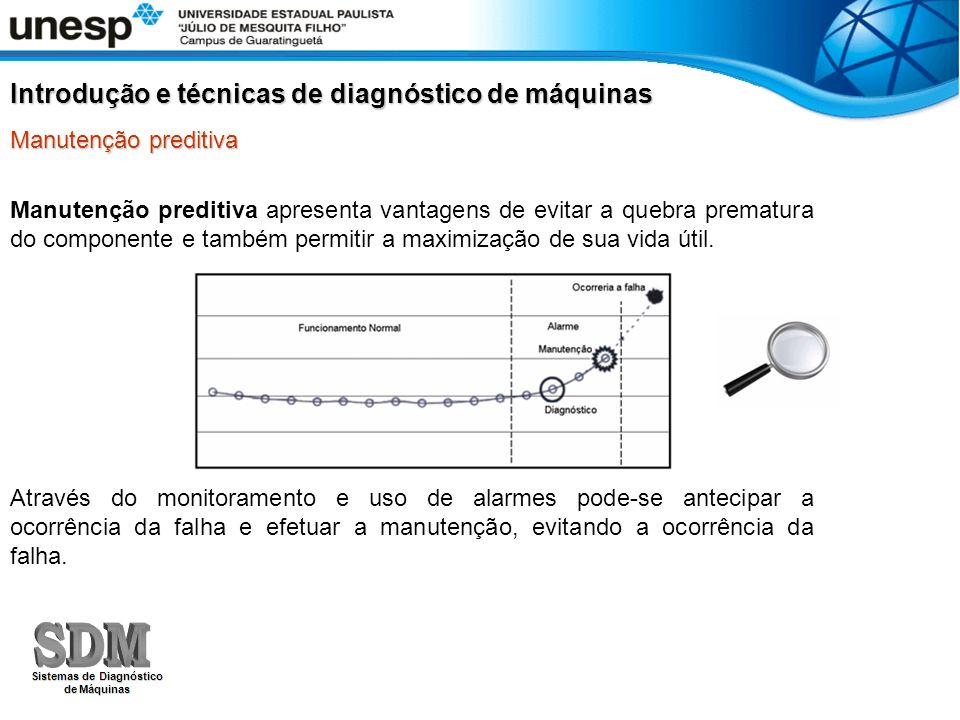 Manutenção preditiva Manutenção preditiva apresenta vantagens de evitar a quebra prematura do componente e também permitir a maximização de sua vida ú