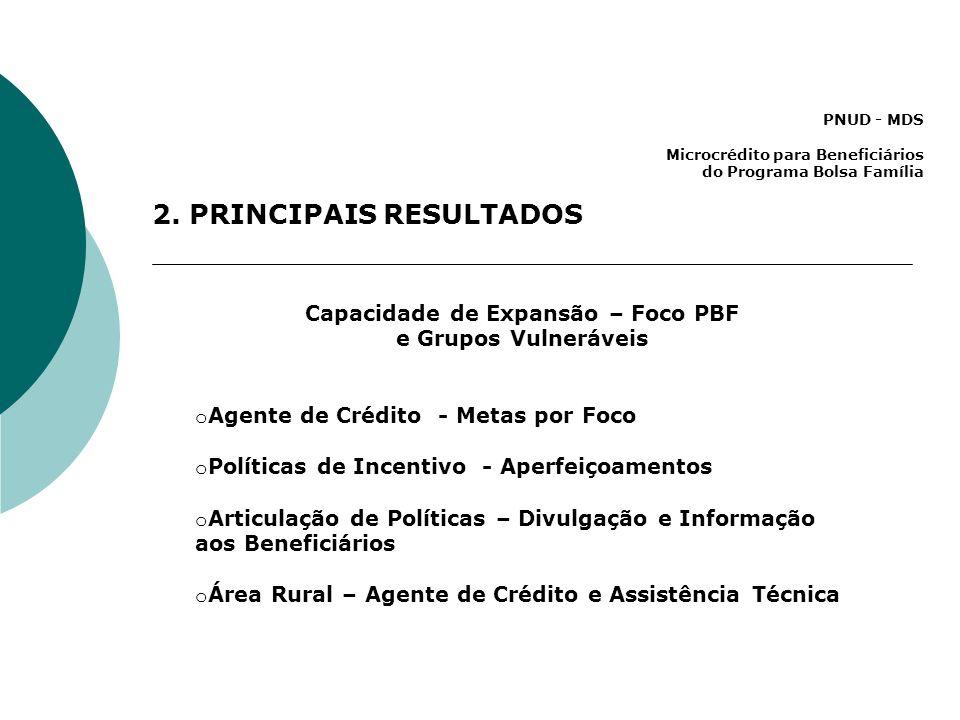 PNUD - MDS Microcrédito para Beneficiários do Programa Bolsa Família 2.