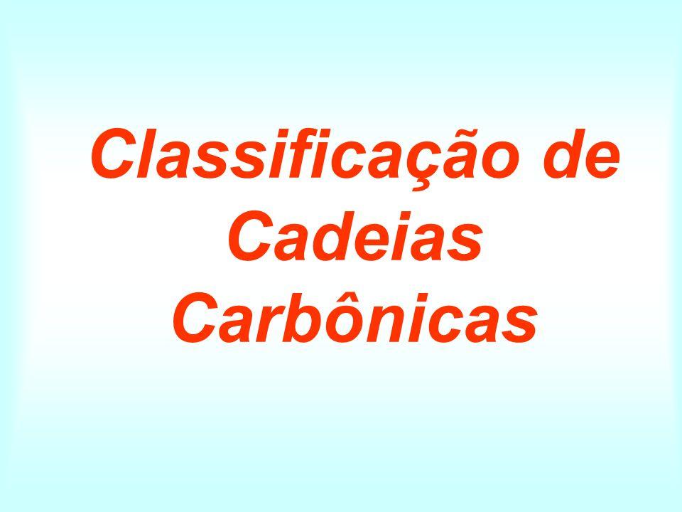 Classificação de Cadeias Carbônicas