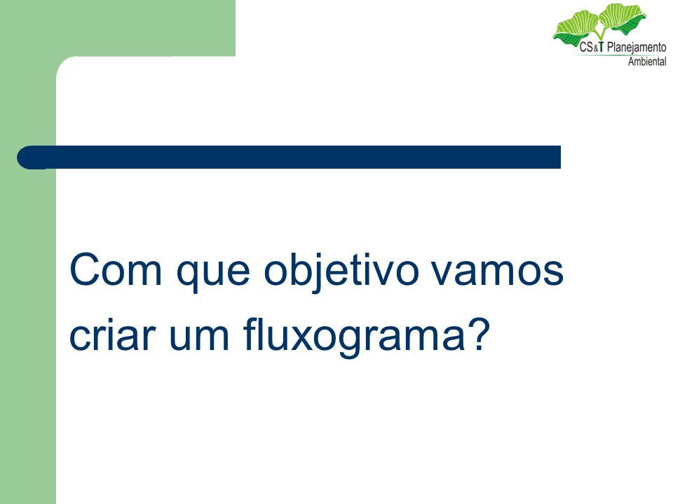 Com que objetivo vamos criar um fluxograma?
