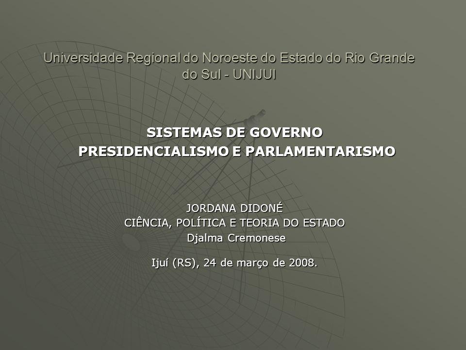 Se o Presidencialismo funciona bem nos Estados Unidos, por que não pode funcionar no Brasil.