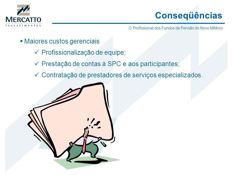 Maiores custos gerenciais Profissionalização de equipe; Prestação de contas à SPC e aos participantes; Contratação de prestadores de serviços especial
