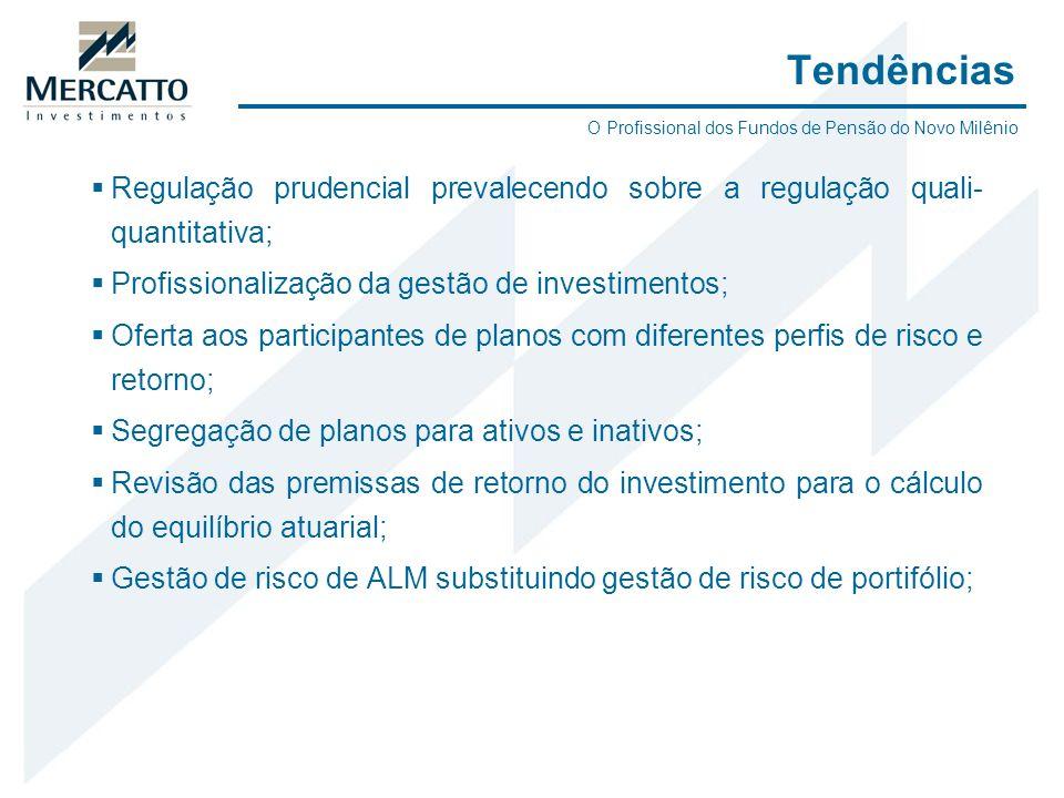 Regulação prudencial prevalecendo sobre a regulação quali- quantitativa; Profissionalização da gestão de investimentos; Oferta aos participantes de pl