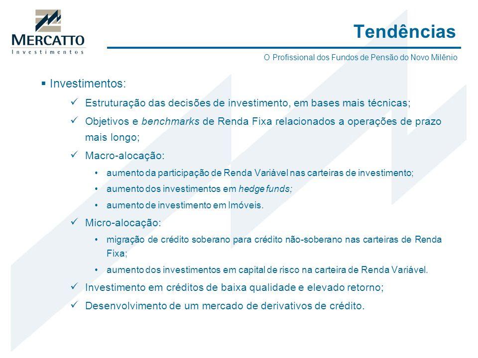 Investimentos: Estruturação das decisões de investimento, em bases mais técnicas; Objetivos e benchmarks de Renda Fixa relacionados a operações de pra