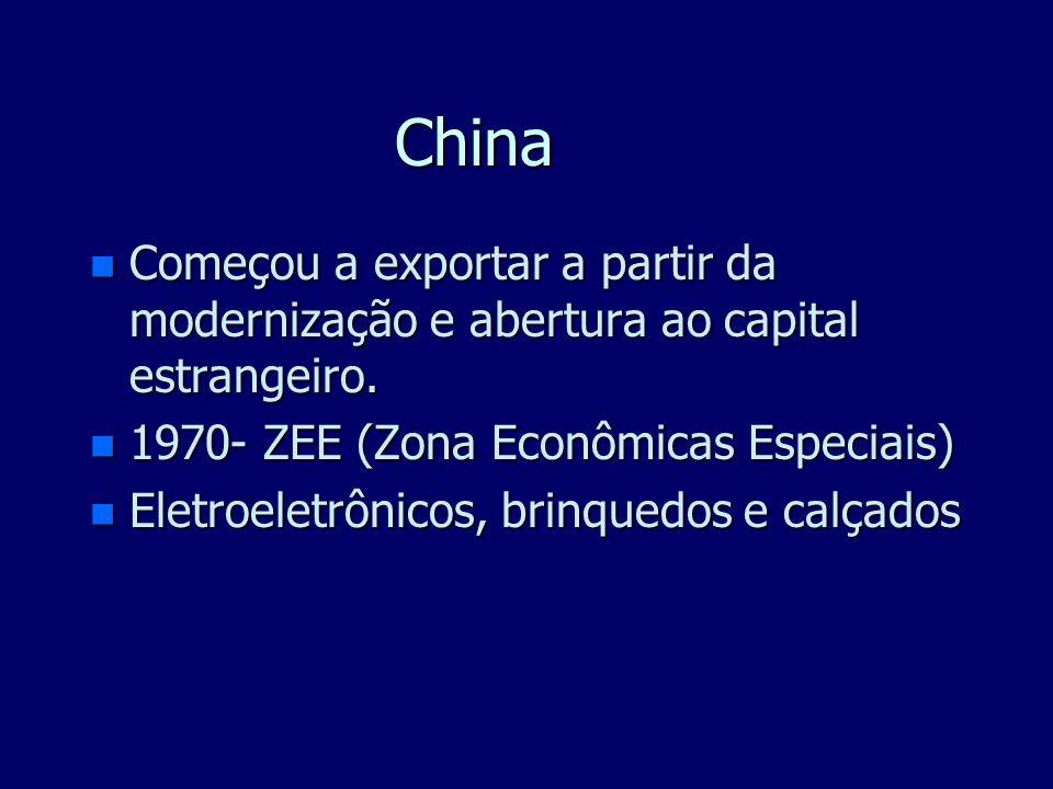 Grandes Áreas Industriais do Mundo n Tigres Asiáticos : Coréia do Sul, Taiwan (ou Formosa), Hong Kong (China), Cingapura, Tailândia, Indonésia e Malás