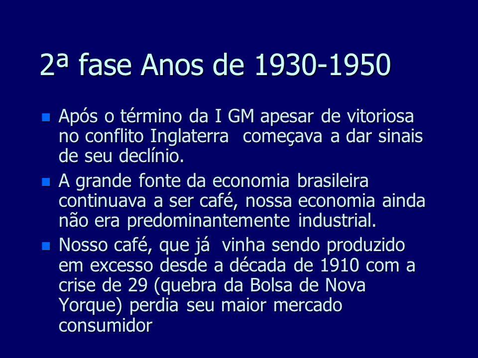 n Até fins do séc. XIX, a maior concentração do capital industrial no Brasil deu-se na cidade do Rio de Janeiro, que perderia tal posição na segunda d